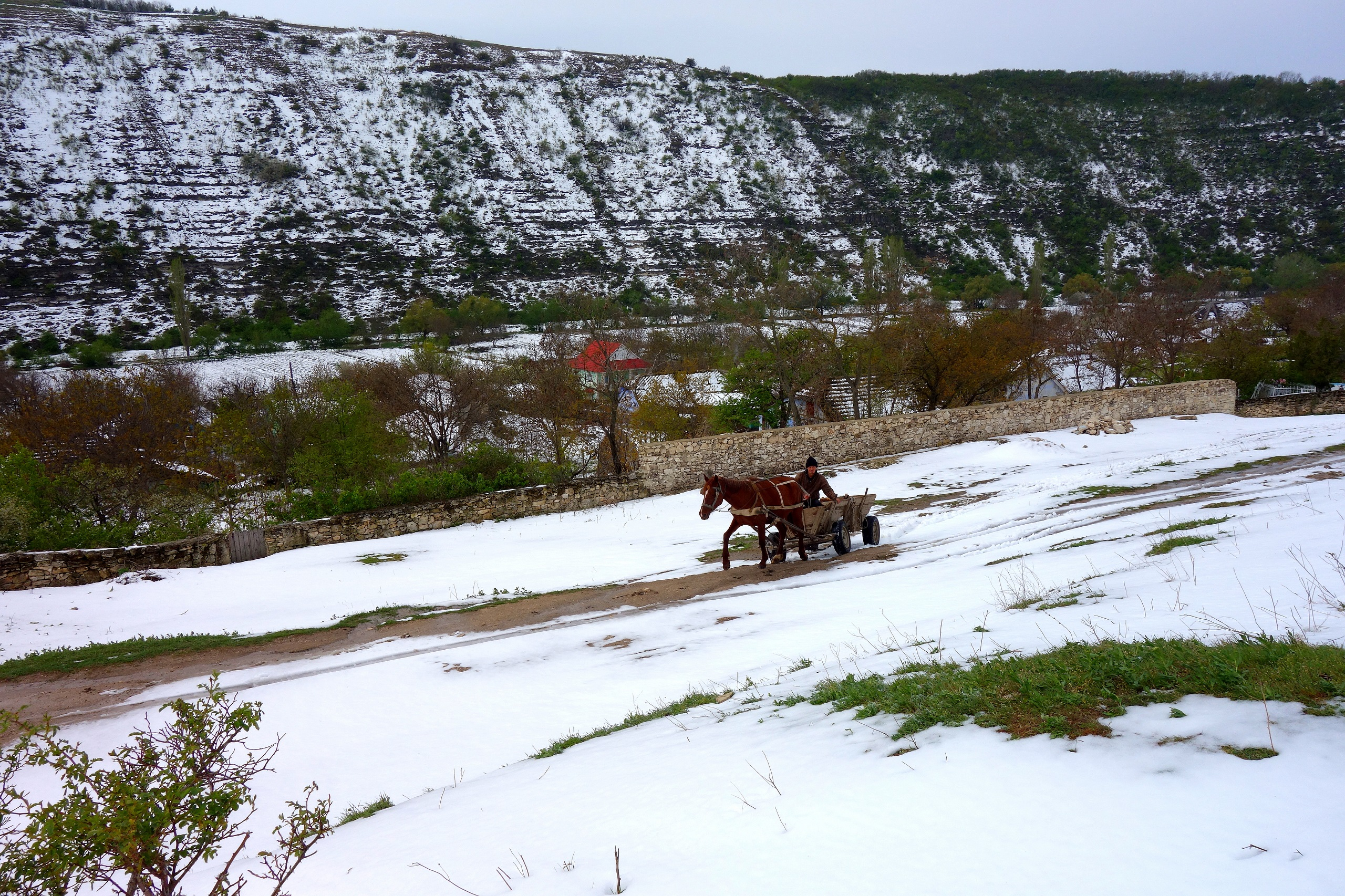 Sielski krajobraz Starego Orhei - Mołdawia
