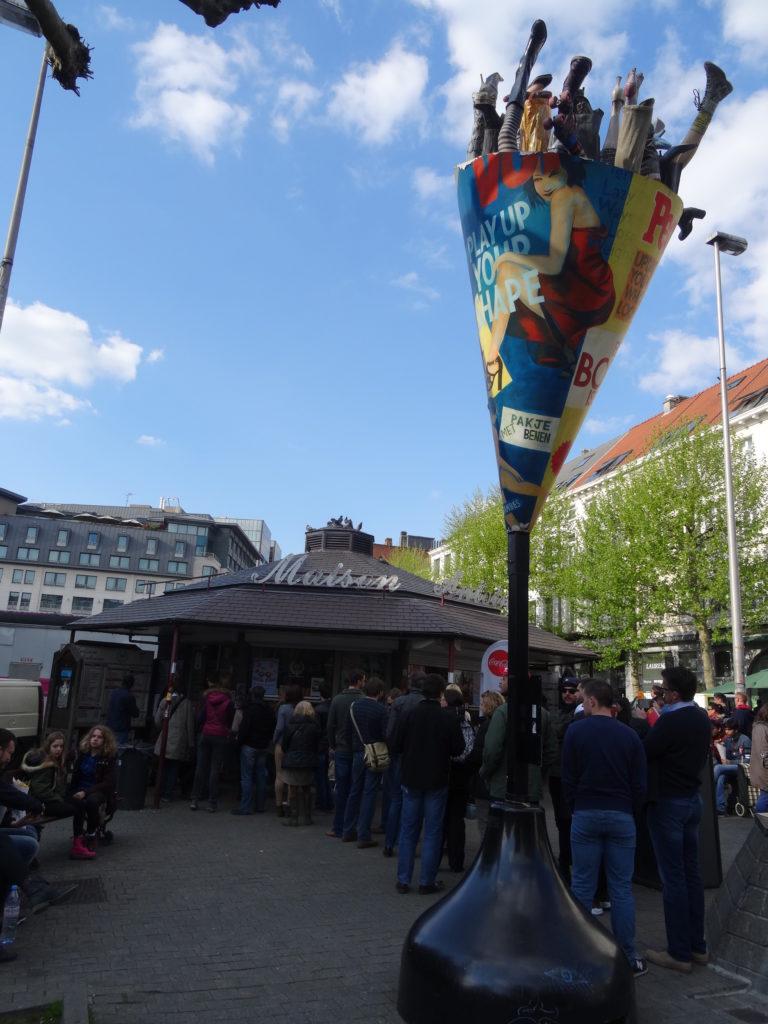 Popularne miejsce z frytkami - Bruksela