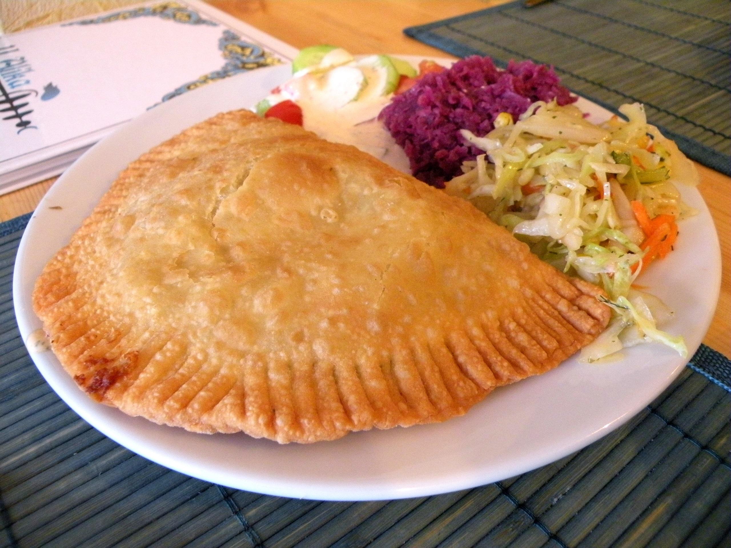 Czeburek krymski z wołowiną - kuchnia tatarska