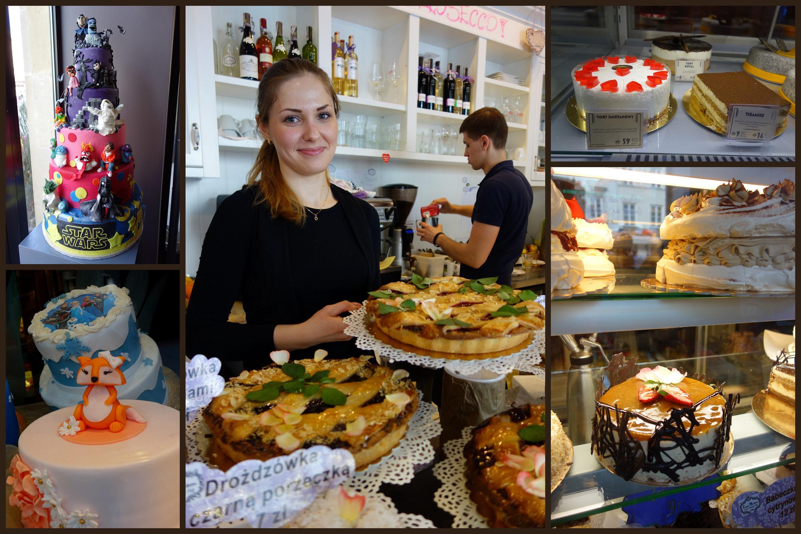 Cukiernie i kawiarnie w Warszawie - dawniej i dziś! Dziękuję kelnerce z Croque Madame za pozowanie do zdjęcia :)