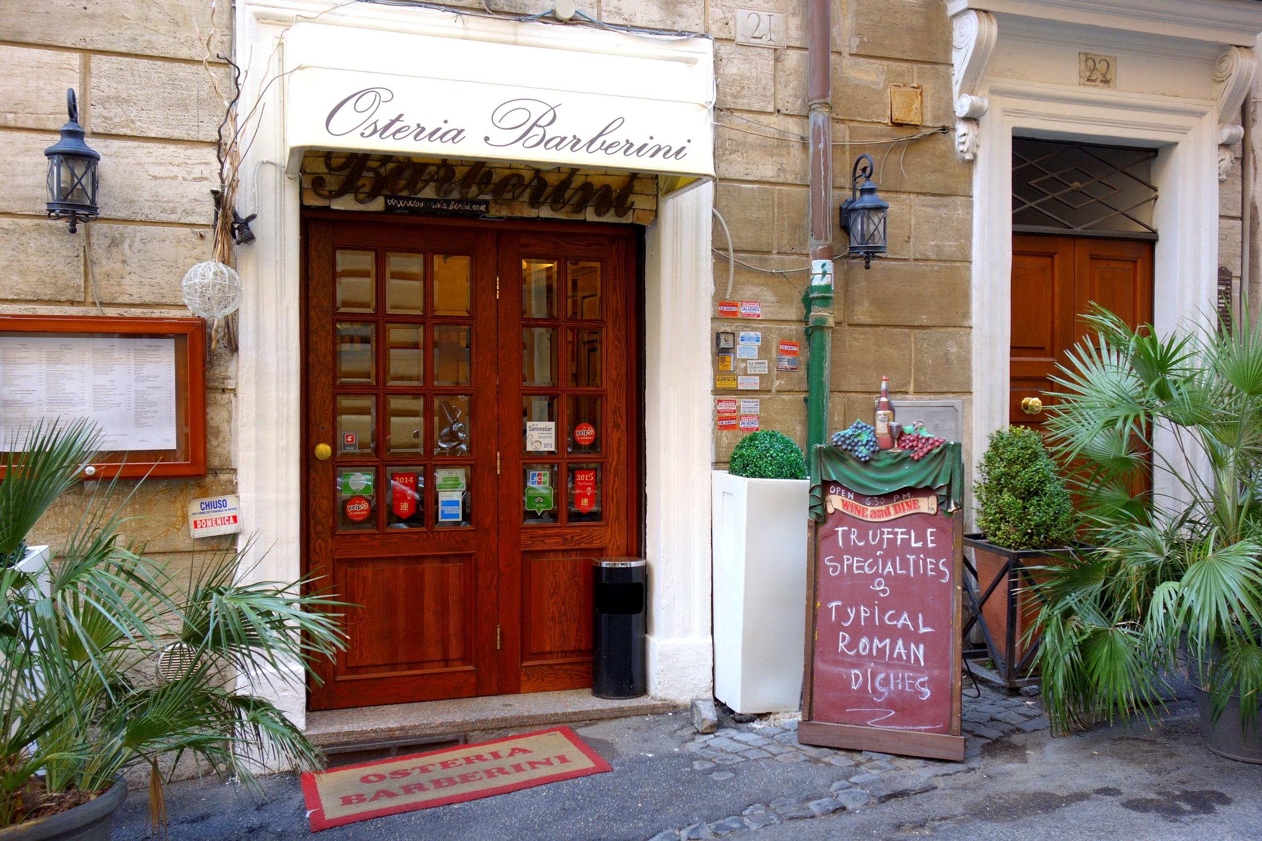 Osteria Barberini - restauracja w Rzymie