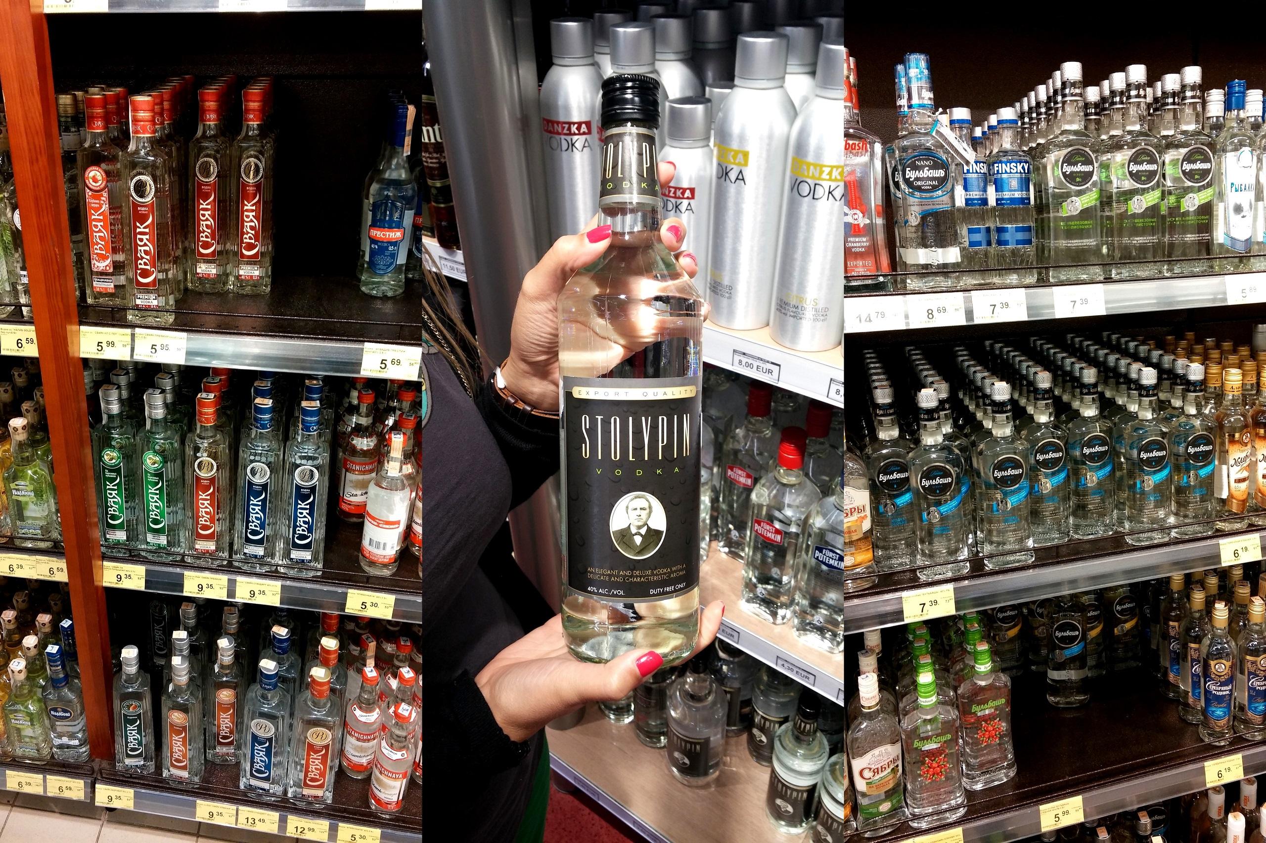 Białoruś - sklepy pełne alkoholu
