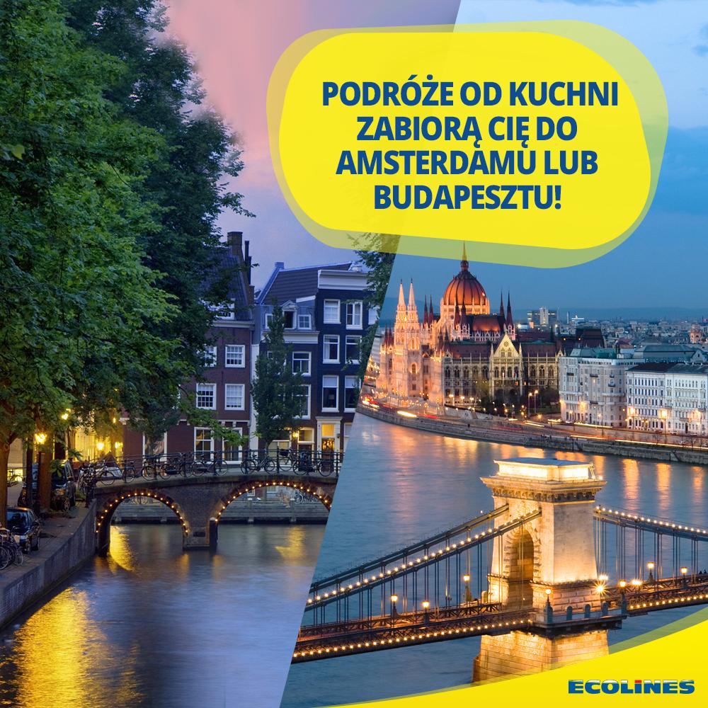 Wygraj podróż do Amsterdamu lub Budapesztu!