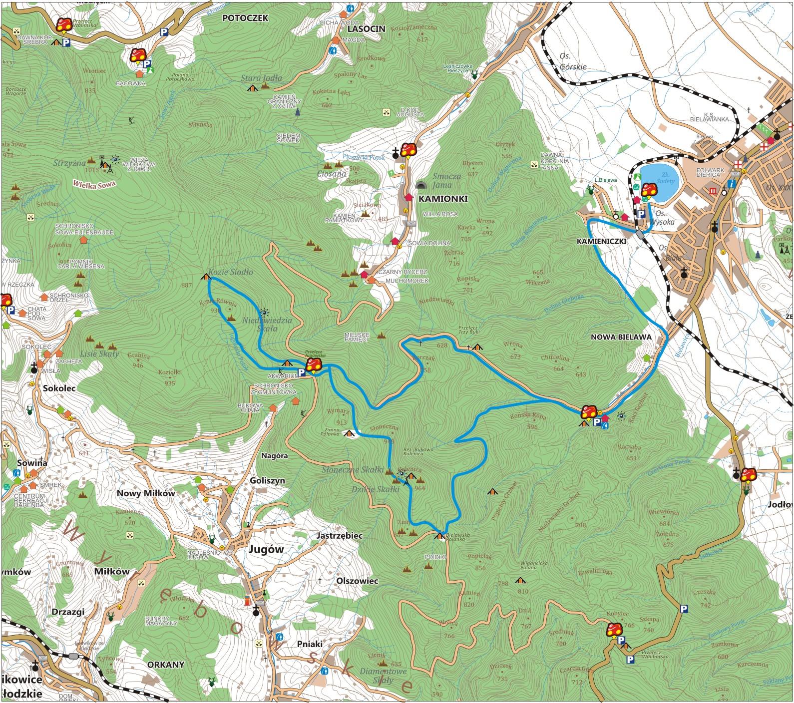 Niebieska Bielawa - szlak rowerowy w Górach Sowich