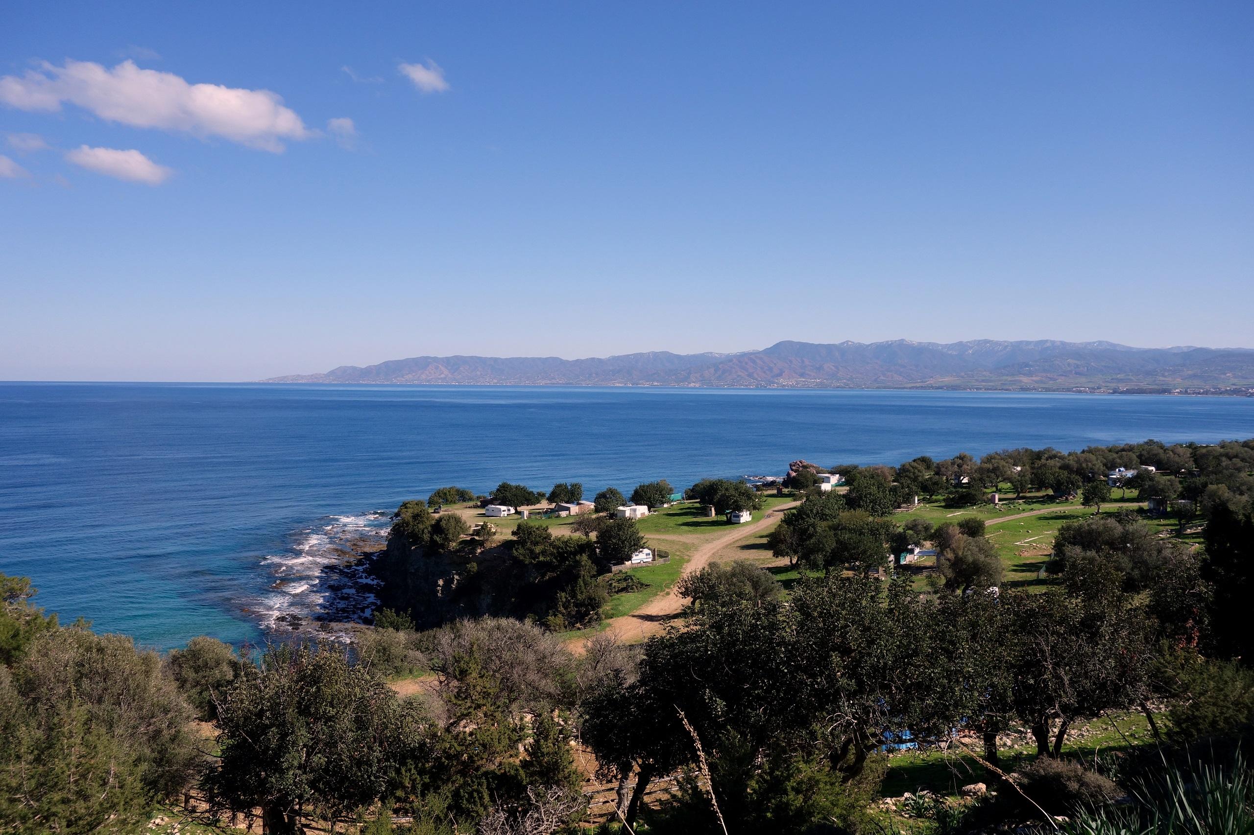 Piękny widok z półwyspu Akamas - Cypr