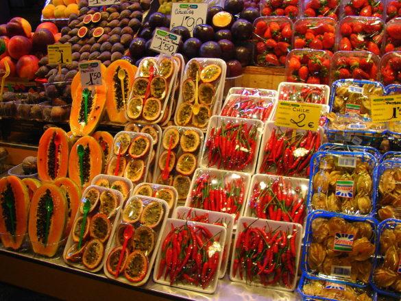 Owoce na targu w Hiszpanii -Kulinarne życie Hiszpana, cz. 2