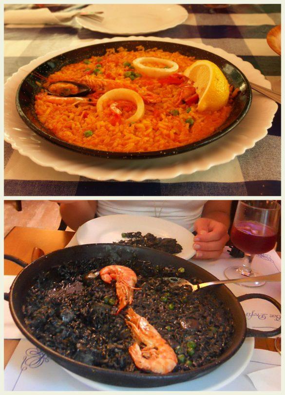 Paella tradycyjna i czarna odmiana - kuchnia hiszpańska