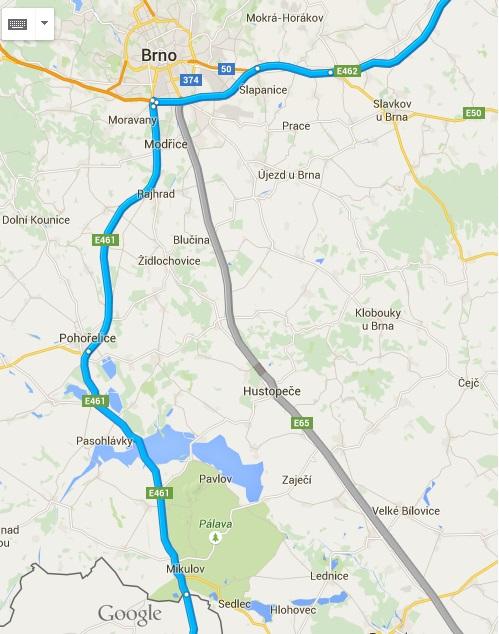 Dojazd samochodem do Chorwacji Czechy 3 - Brno - Mikulow