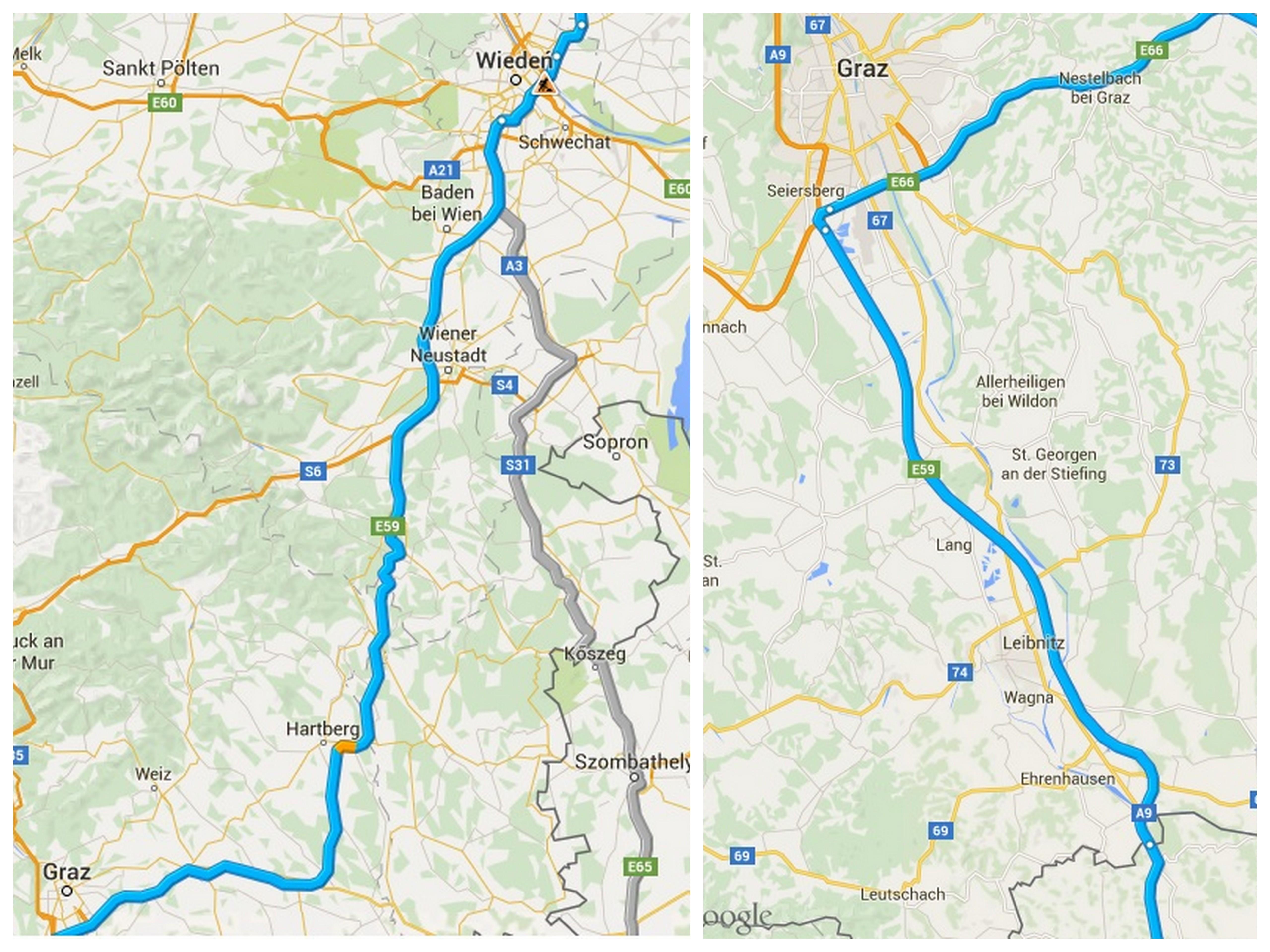 Dojazd samochodem do Chorwacji Austria 2 Wiedeń - Słowenia