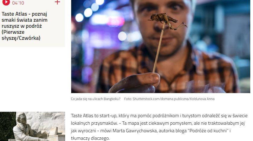 Czwórka Polskie Radio - Atlas Smaków, Marta Gawrychowska