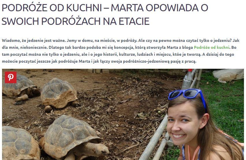 Blog Rusz w Podróż - wywiad z Martą Gawrychowską