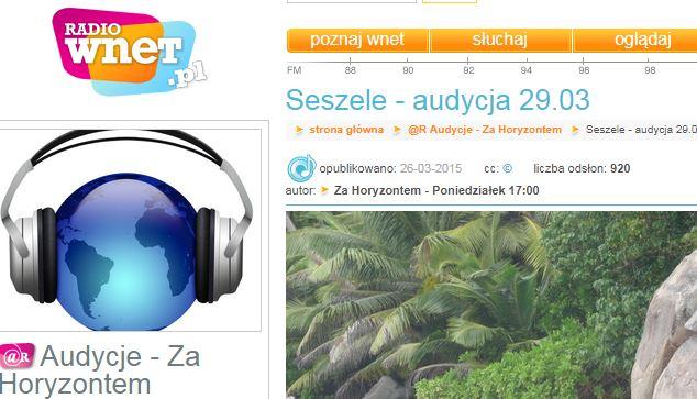 Radio Wnet Seszele - Marta Gawrychowska