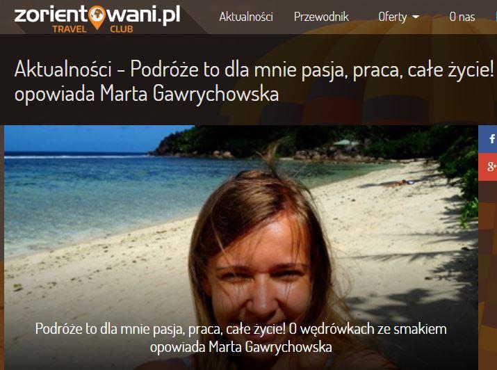 Wywiad z Martą Gawrychowską o pasji do podróży!