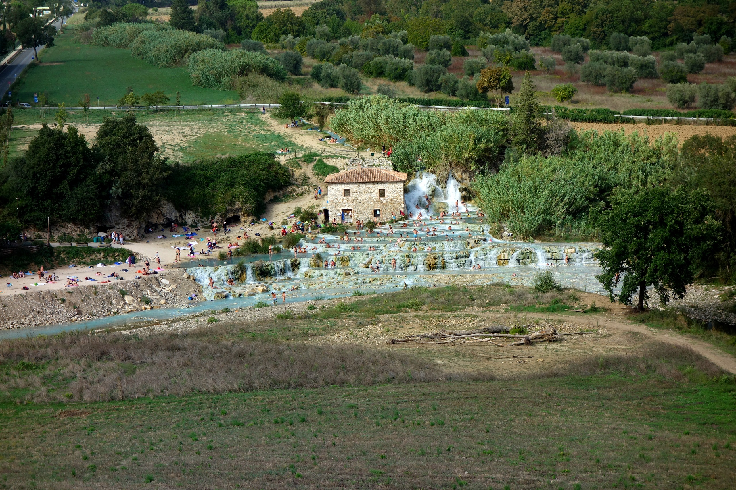 Cascate del Mulino - widok z góry