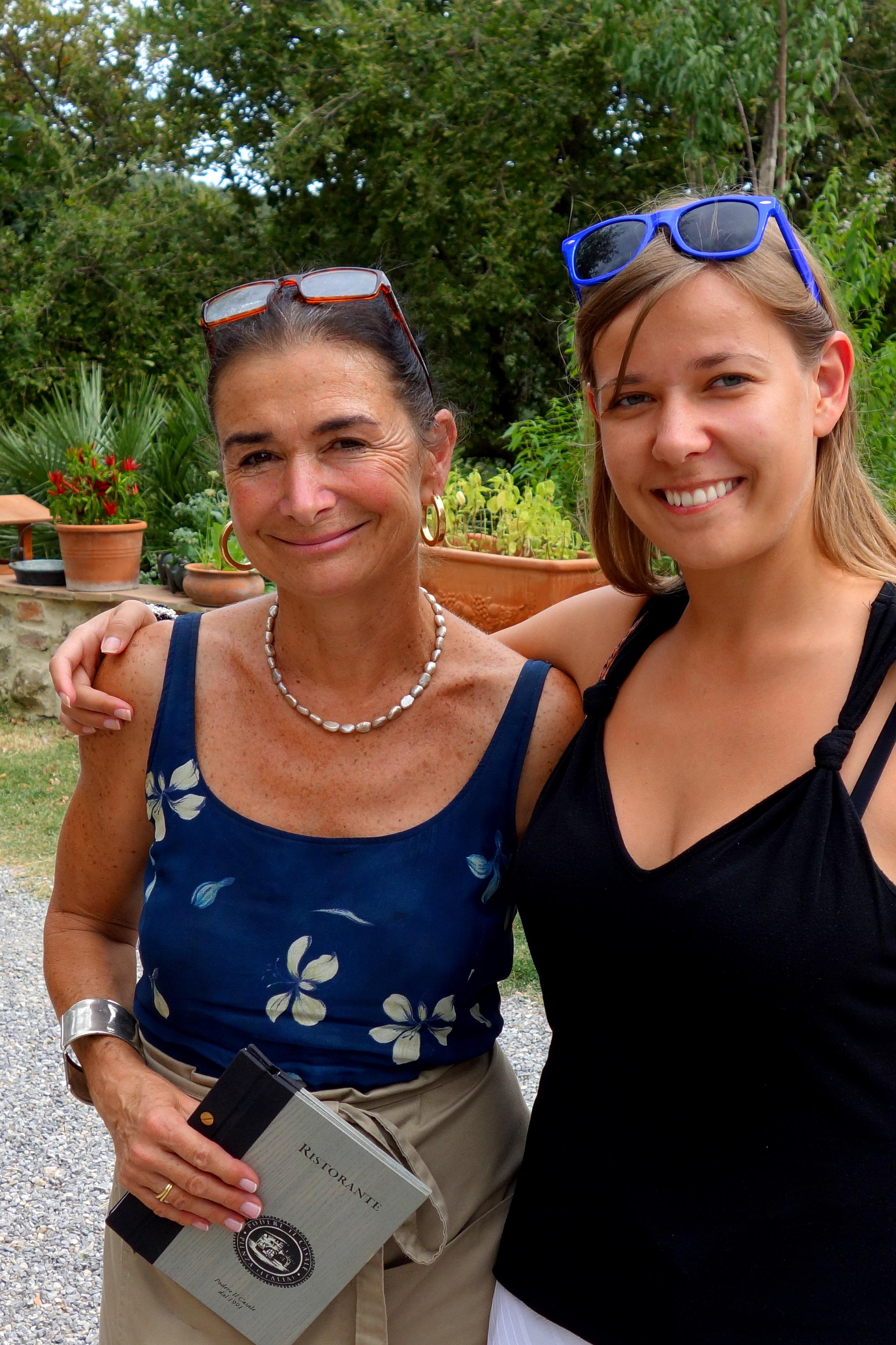 Podere Il Casale - przemiła właścicielka farmy