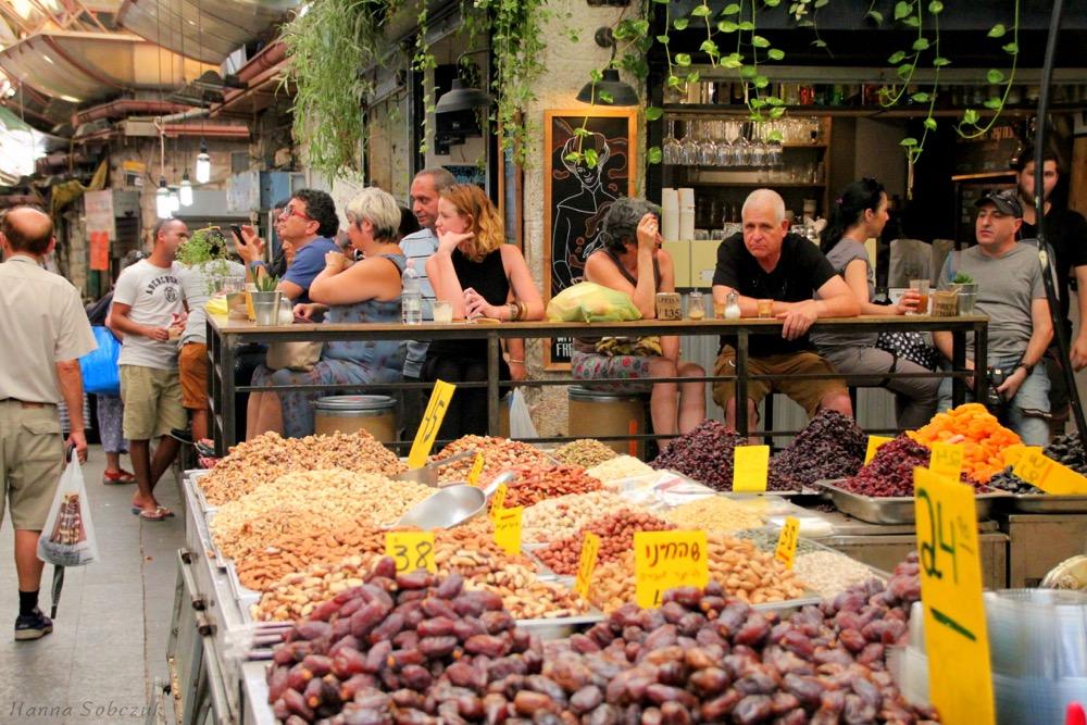 Yehuda Market Jerozolima - kuchnie świata. Autorka zdjęcia: Hania Sobczuk
