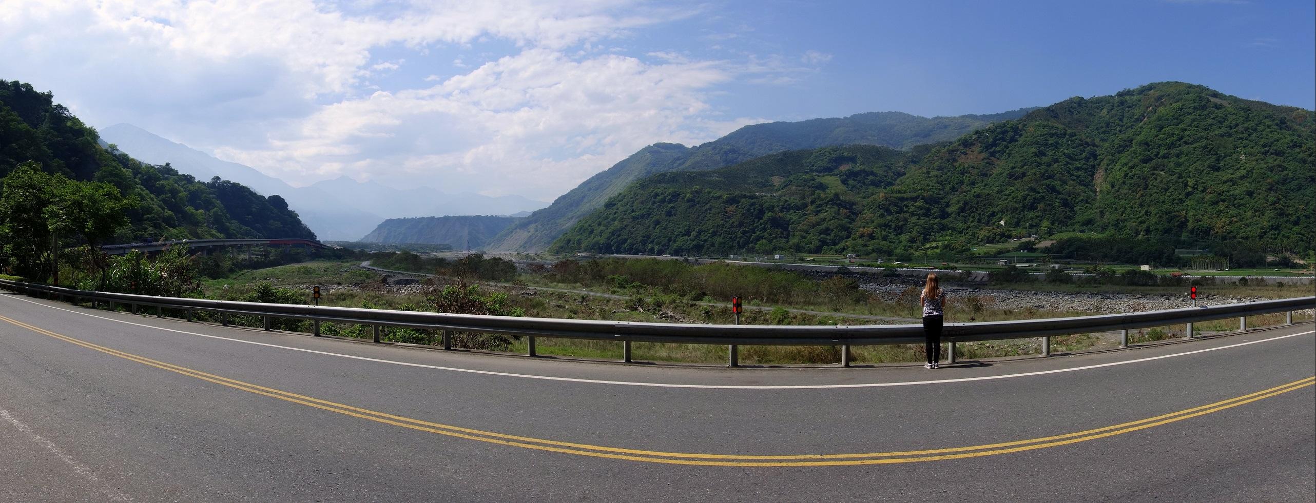 Piękna sceneria dróg na Tajwanie