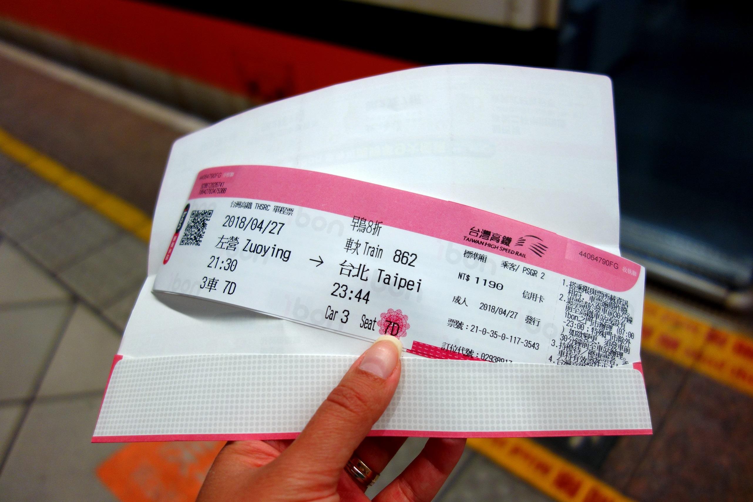 Bilet na szybką kolej na Tajwanie - Podróże od kuchni
