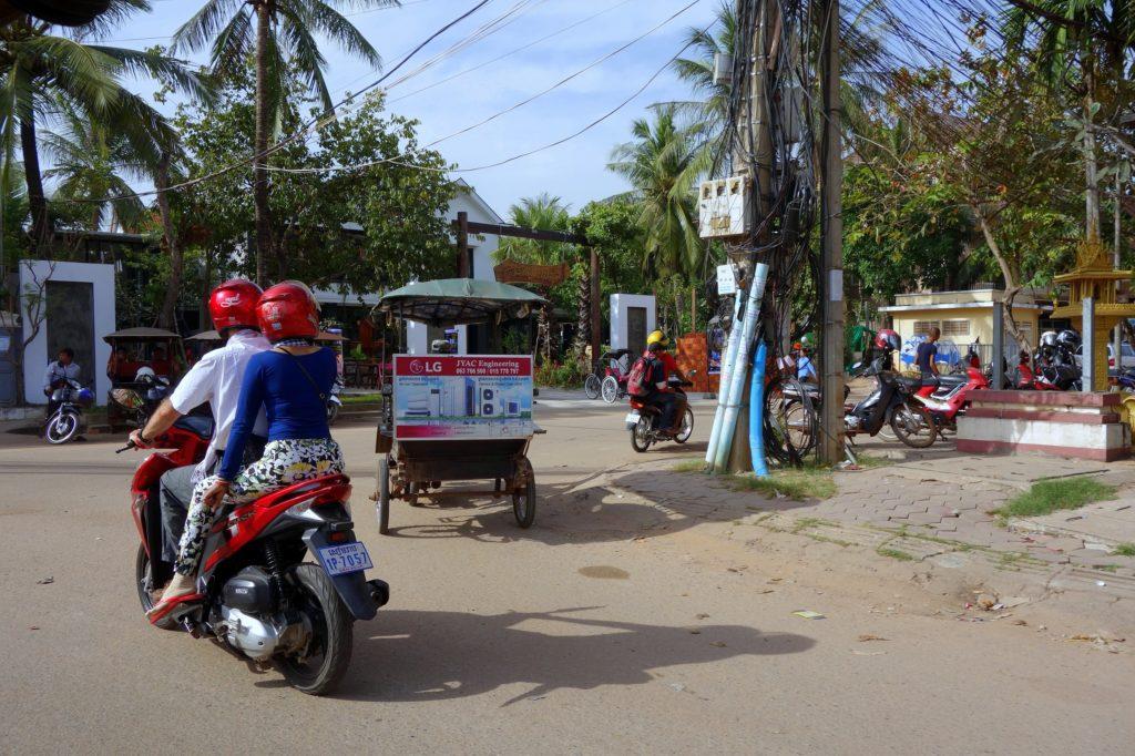 Jedna z dróg w Siem Reap - Kambodża