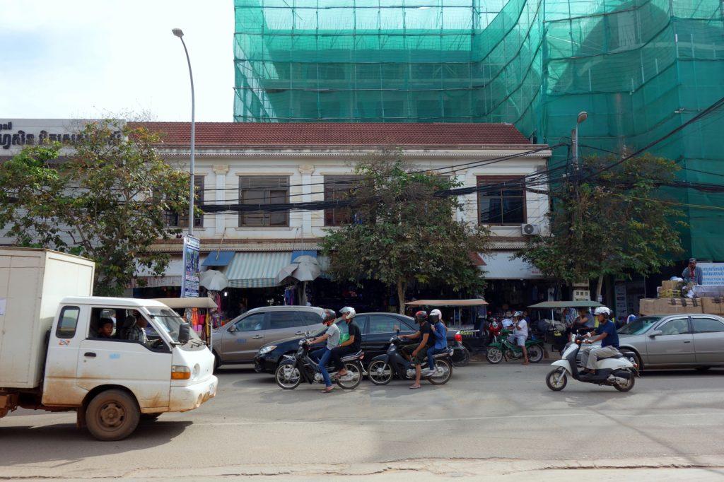 Droga w Siem Reap - miasto w Kambodży