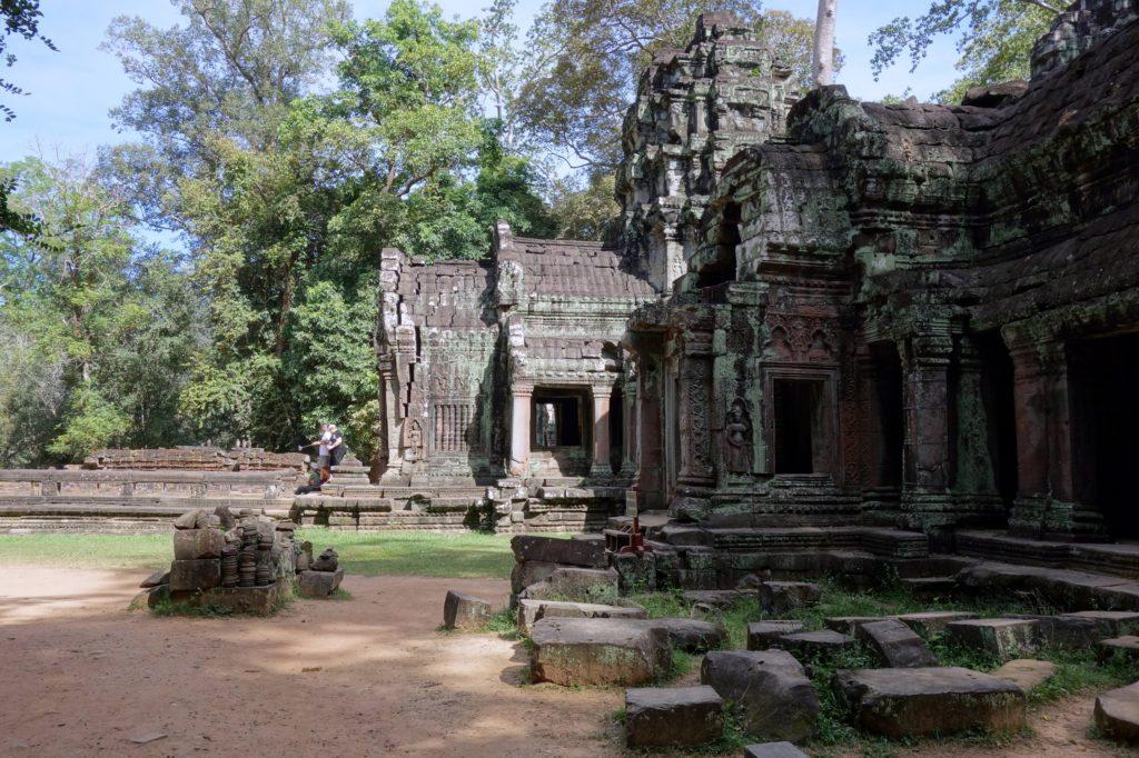 Świątynia Preah Khan z profilu