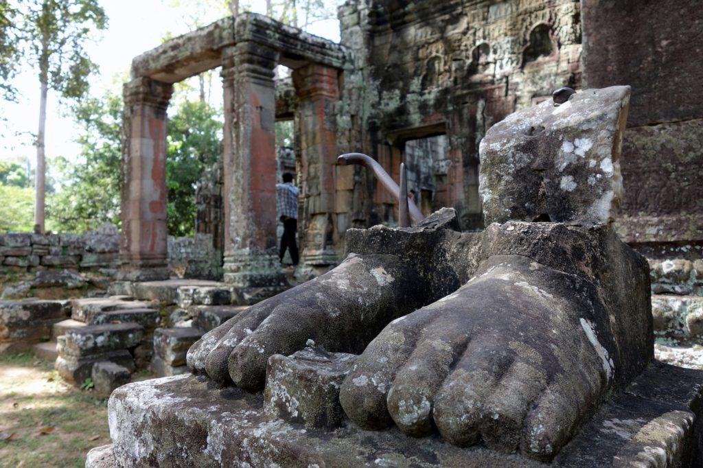 Detale świątyni w Kambodży