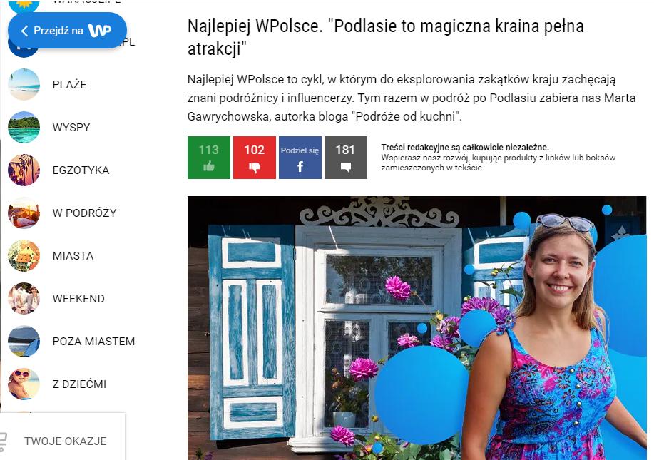 wywiad w Wirtualnej Polsce o Podlasiu, atrakcje województwa podlaskiego