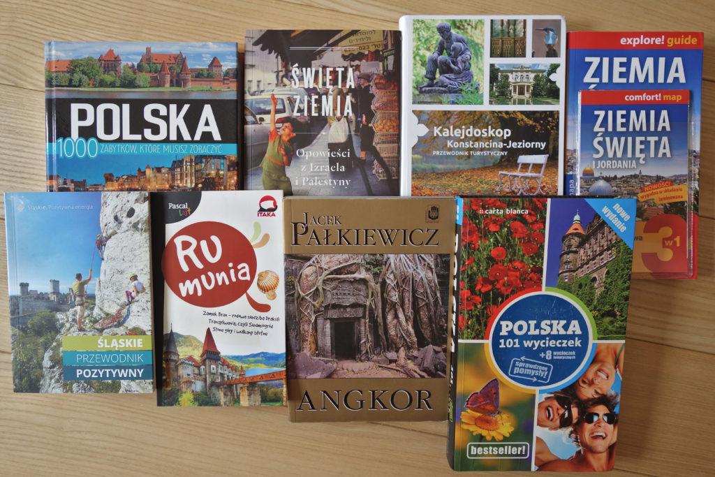 Różne pozycje podróżnicze - książki, albumy, przewodniki